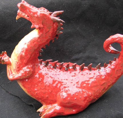 Red Dragon Incense Burner