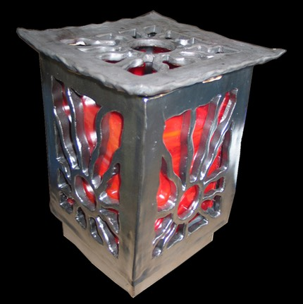 Red Stained Glass Lantern